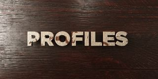Profiles - grungy wooden headline on Maple  - 3D rendered royalty free stock image Stock Photo