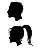 Profiles of man and woman Royalty Free Stock Photo