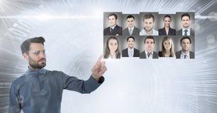 Profili commoventi del ritratto dell'uomo della gente differente Immagine Stock Libera da Diritti