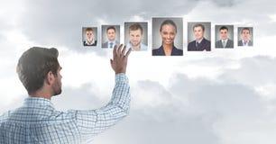 Profili commoventi del ritratto dell'uomo della gente differente Fotografie Stock