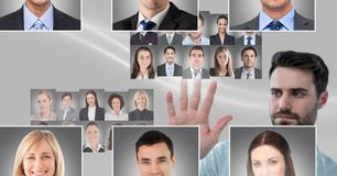 Profili commoventi del ritratto dell'uomo della gente differente Fotografia Stock