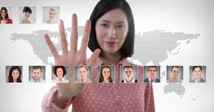 Profili commoventi del ritratto della donna della gente differente Immagine Stock Libera da Diritti