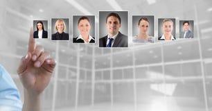 Profili commoventi del ritratto della mano della gente differente Immagini Stock Libere da Diritti