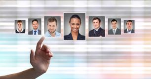 Profili commoventi del ritratto della mano della gente differente Immagine Stock Libera da Diritti
