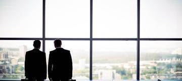 Profili degli uomini d'affari Fotografia Stock Libera da Diritti