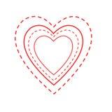 Profili del cuore del biglietto di S. Valentino Fotografie Stock