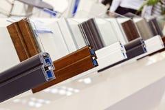 Profili del PVC per la finestra immagine stock