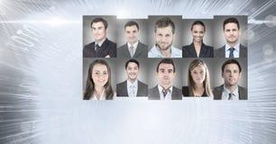 profili del ritratto della gente differente Immagini Stock