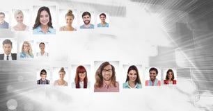 profili del ritratto della gente differente Immagini Stock Libere da Diritti