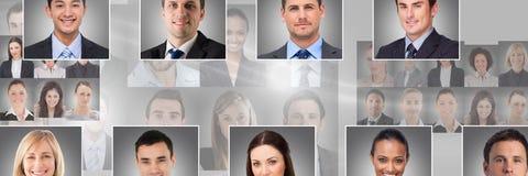 profili del ritratto della gente differente Fotografia Stock Libera da Diritti