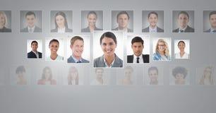 profili del ritratto della gente differente Immagine Stock Libera da Diritti