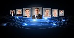 profili del ritratto della gente differente Fotografia Stock