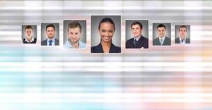 profili del ritratto della gente differente Fotografie Stock