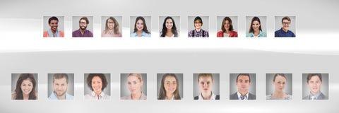 profili del ritratto della gente differente Immagine Stock