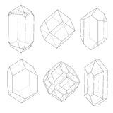 Profili delle pietre preziose illustrazione vettoriale