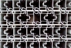 Profili di alluminio Profilo della finestra fotografia stock libera da diritti