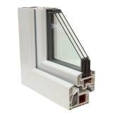 Profili di plastica delle finestre fotografie stock libere da diritti