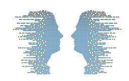 Profili di Technologic Fotografia Stock
