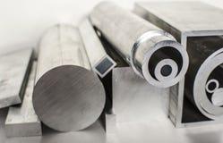 Profili e tubi del metallo Immagini Stock Libere da Diritti