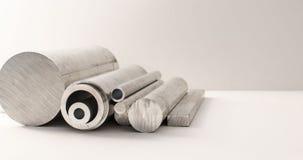 Profili e tubi del metallo Fotografia Stock Libera da Diritti