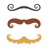 Profili il facial umano adulto riccio di modo di simbolo del barbiere e del signore della barba della raccolta dei pantaloni a vi illustrazione vettoriale