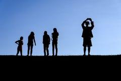 Profili il gruppo di persone Fotografia Stock Libera da Diritti