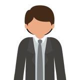 profili il mezzo uomo del corpo con il vestito convenzionale senza fronte Fotografie Stock Libere da Diritti