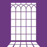 Profili la struttura della finestra - imitazione di luce Immagine Stock