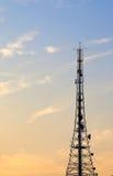 Torre della trasmissione radiofonica Fotografie Stock