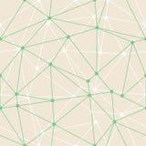 Profili sottili verdi geometrici del triangolo dell'estratto di vettore con il fondo dei punti Adatto a carta da parati di d Adat royalty illustrazione gratis