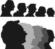 Profili umani Fotografia Stock Libera da Diritti