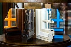 Profili variopinti della finestra fotografia stock libera da diritti