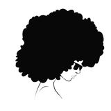 Profilkontur av flickan stock illustrationer