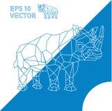 Profilo animale geometrico ENV di rinoceronte Immagine Stock Libera da Diritti
