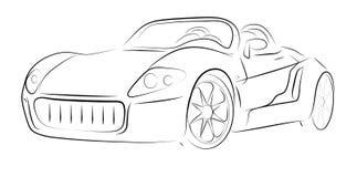 Profilo astratto dell'automobile Immagine Stock Libera da Diritti