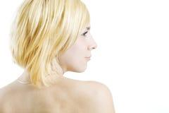 Profilo biondo Fotografie Stock