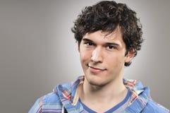 Profilo caucasico Portrtait di espressione dello spazio in bianco dell'uomo Fotografie Stock Libere da Diritti