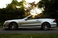 Profilo convertibile dell'automobile Fotografia Stock