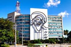 Profilo d'acciaio della figura rivoluzionaria cubana Camilo Cienfuegos Fotografia Stock Libera da Diritti