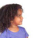 Profilo del bambino dell'Africano di bellezza fotografia stock