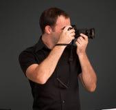 Profilo del fotografo Fotografie Stock