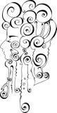 Profilo del fronte & dei capelli del `s della ragazza royalty illustrazione gratis