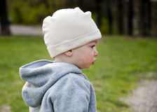 Profilo del fronte del bambino Fotografia Stock