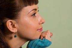 Profilo del fronte della donna Fotografie Stock Libere da Diritti