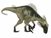 Profilo del lato del dinosauro del Beipiaosaurus Illustrazione di Stock