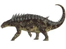 Profilo del lato di Hungarosaurus Fotografia Stock