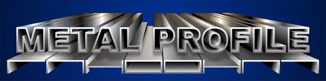 Profilo del metallo Fotografia Stock