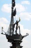 Profilo del monumento a Peter le grande Fotografia Stock