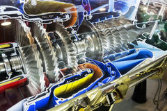 Profilo del motore a turbina Tecnologie di aviazione Fotografie Stock