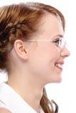 Profilo del ritratto della donna di affari Fotografie Stock Libere da Diritti